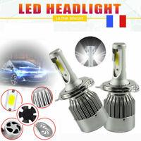 2x 72W 20000LM H4 9003 Hi-Lo Bi-Xénon LED Ampoule Voiture Phare Feux Lampe Kit