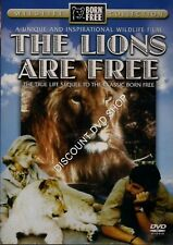 THE LIONS ARE FREE. TRUE LIFE CLASSIC BORN FREE. NEW DVD