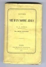 PAUL DE GESLIN REPOND A ERNEST RENAN SUR LA VIE DE JESUS 1863 POLEMIQUE