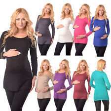 Maternity & Nursing Scoop Neck Tunic Breastfeeding Size 8 10 12 14 16 18 7021