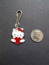 New Hello Kitty Red Heart Enamel Charm Zipper Pull Clip Cartoon Character Alloy