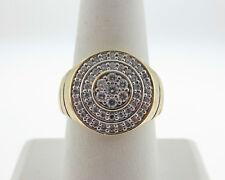 Estate Large 1.00ct Genuine Diamonds Solid 14k Yellow Gold Men's Ring