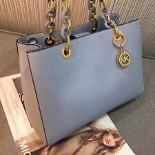 5e863b4fe ... leather shoulder bag grey df642 dd1a3; top quality 100 michael kors  cynthia saffiano satchel blue hurry christmas bargain cbd3f 771cb