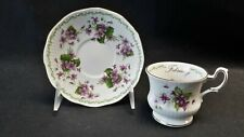 Queens Rosina England Special Flowers February Violets Demitasse Cup & Saucer