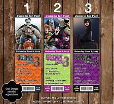 Hotel Transylvania Birthday Party Invitation - 3 Designs - 20 Pack