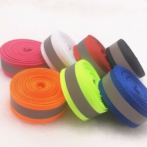 Strap Vest Webbing 20mm/10mm 5 yards Safety Silver Reflective Sew  Fabric Tape