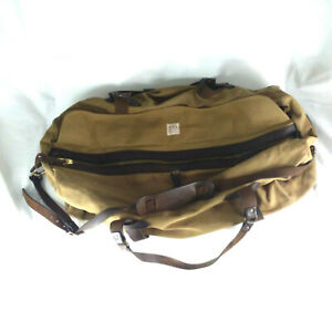 "CC. Filson Large Duffle Bag - Rugged Twill & Bridle Leather - Tan - Cotton 30"" L"