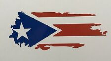 Distressed Puerto Rico  Flag Decal Sticker Country Map Vinyl Free Shipping