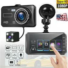 4'' Dual Lens Camera 1080P HD Car DVR Vehicle Video Dash Cam Recorder G-Sensor