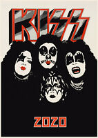 2020 Wall Calendar [12 pages A4] Kiss Rock Stars Vintage Music Poster Photo M962