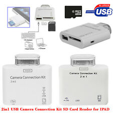 2 in 1 USB Camera Connection Kit SD Memory Card Reader Adapter For Apple Ipad