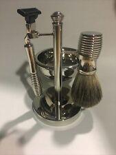 Mach 3 Shave Set Kit Razor handle Badger Shave Brush Soap Dish Bb10