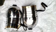 Halloween Warrior Pauldron Reenactment Medieval Temered Spring Reproduction Two