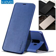 For Samsung Galaxy S20+ Note 10 9 Case Genuine X-Level Leather Wallet Flip Cover