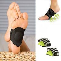 UK 2x Foot Heel Pad pain Relief Plantar Fascitis Insole Arch Support Shoe Insert