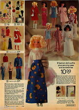 1974 ADVERTISEMENT Doll Wig Set PoolRaft Chaise Trail Bike Kitchen Barbie Trunk