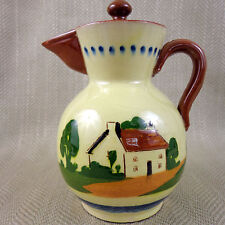 Torquay Pottery Jug Coffee Pot Hand Painted Vintage Motto Ware Devon English