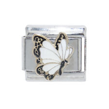 White butterfly Italian Charm - fits 9mm classic Italian charm bracelets