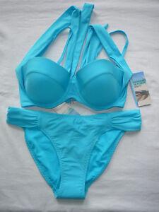 M&S Bikini 32C Multiway Padded Top & Size 10 Bottoms BNWTS