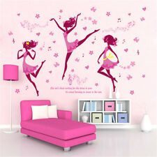 Dancing Elf Pink Girl Room Home Decor Removable Wall Sticker Decal Decoration