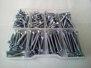 230 Pcs. Multipurpose screws zinc plated in plastic box