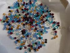 lot  400 PERLES anciennes en cristal verre facette multicolore et formes