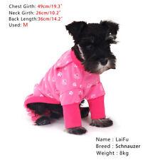 Medium Pet Clothes Dog Pajama Jumpsuit Small Cotton Puppy Cat Sleepwear Coat