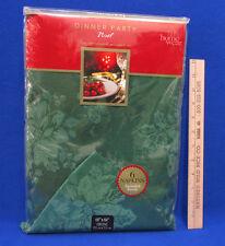 Home Wear Christmas Tablecloth & Napkin Set 6 Noel Green Holly Oblong 60 x 84