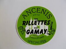 Autocollant ANCENIS - Ses rillettes, son Gamay