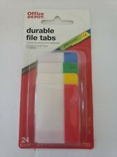 Office Depot Durable File Tabs 24 Count