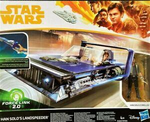 "star wars Han Solo 's Landspeeder avec figurine Hasbro 3,75"""