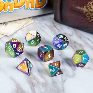 7-Color DND Metal Dice Dice Set Rainbow Dice For Dungeons Toys Gifts and Fast