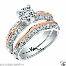 Silver Wedding Engagement Ring Style 23 1Ct White Round Moissanite 925 Sterling