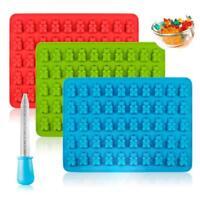 50 Cavity Gummy Bears Hard Candy Chocolate Silicone Soap Ice Cube Tray Mold Tool