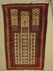 Early 20th Cent  Middle Eastern balouch Prayer Rug 154x92cm