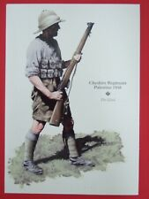 MILITARY POSTCARD-  THE 22ND-CHESHIRE REGIMENT PALESTINE 1936 BY ROB CHAPMAN