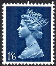 1967 Sg 743Eva 1s6d greenish blue and deep blue - Greenish Blue Omitted UMM