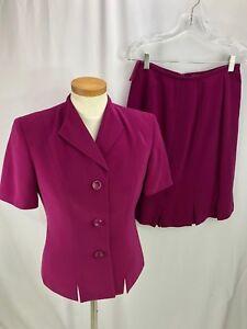Kasper Women's Pink Skirt Suit Jacket 4 Skirt 2P