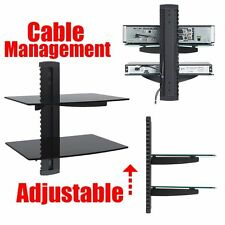 DVD Cable Box Direct TV HD Receiver Game Console 2 Tier Glass Wall Mount Stand