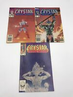 The Saga of Crystar, Crystal Warrior Comic Book Lot of 3 (Marvel, 1983)