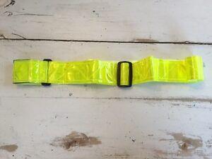 "3M Scotchlite 2"" Waist Belt Yellow Fluorescent & Reflective Adjustable up to 50"""