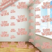 Happy Birthday Party 6x Rose Gold Hanging String Door Wall Curtains Decorations