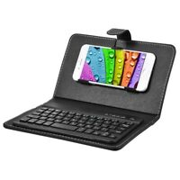 Wireless Bluetooth Keyboard Case Leather Stand Cover for IPhone Android Ph R4J1