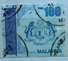 Malaysia Used Revenue Stamps - RM100 Stamp (New Design)