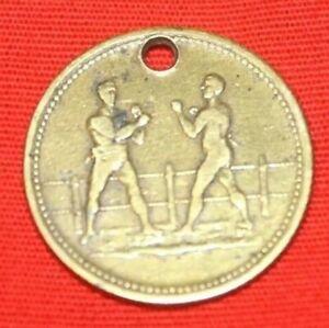 1824  **Very Rare** Antique Tom Spring vs Jack Langan Boxiana Brass Boxing Token