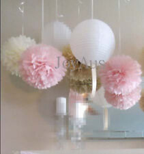 24x paper pom poms paper lanterns wedding 1st birthday baby shower hanging decor