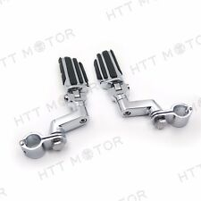 """Highway Radical Flame Foot Peg Clamps 1"""" For Harley Sportster 883 1340 XL1200"""