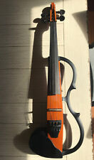 YAMAHA SV-100 Silent Electric Violin Made In Japan MIJ Brown, KUN Shoulder Rest