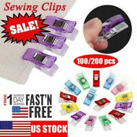 US 100PCS Plastic Sewing Clips Clamp for Craft Quilting Sewing Knitting Crochet