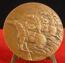 Médaille Course hippique Pari Mutuel Urbain Chevaux Race Horse Querolle Medal 铜牌